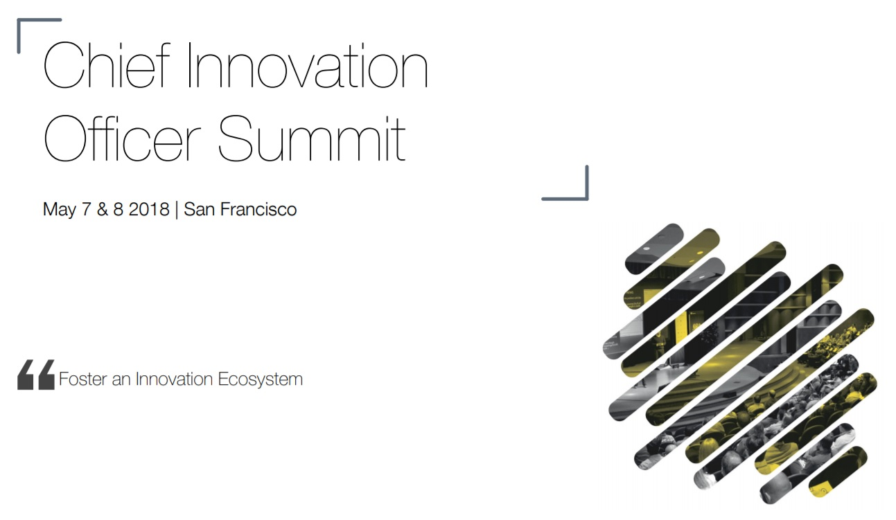 Chief Innovation Officer Summit May 2018